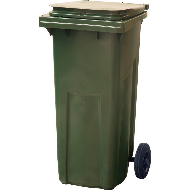 Пластиковый контейнер с крышкой и колесами (120 литров) 2800 руб.