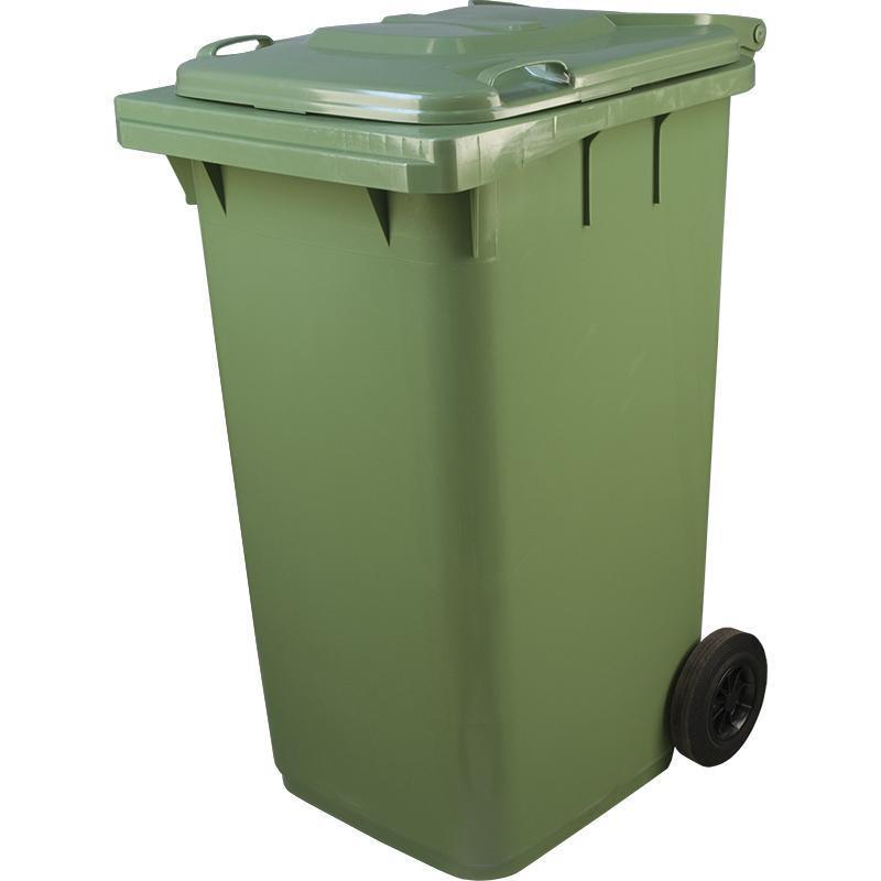 Пластиковый контейнер с крышкой и колесами (240 литров) 4000 руб.