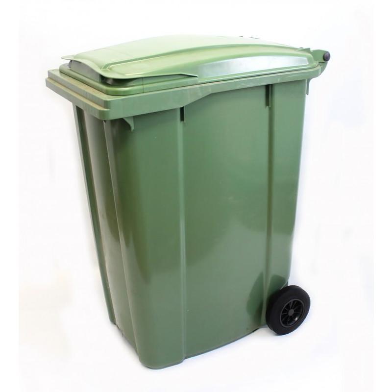 Пластиковый контейнер с крышкой и колесами (360 литров) 6400 руб.
