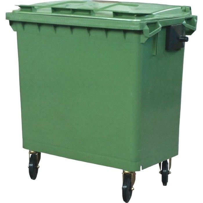 Пластиковый контейнер с крышкой и колесами (660 литров) 14700 руб.