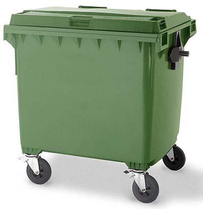 Пластиковый контейнер с крышкой и колесами (770 литров) 15800 руб.