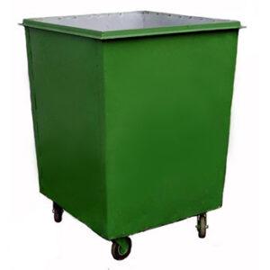 металлический контейнер без крышки с колесами 1.0 кубм
