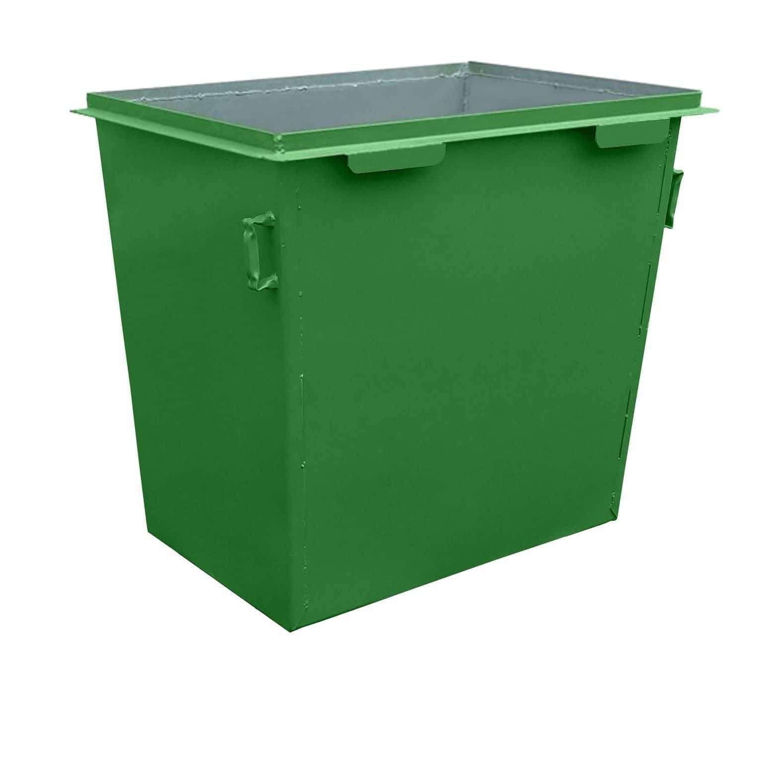Металлический контейнер без люка на колесах (0,8 куб. м.)