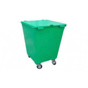 Металлический контейнер с крышкой и колесами (0,75 куб. м.)