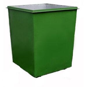 Металлический контейнер без крышки и без колес (0,75 куб. м.)